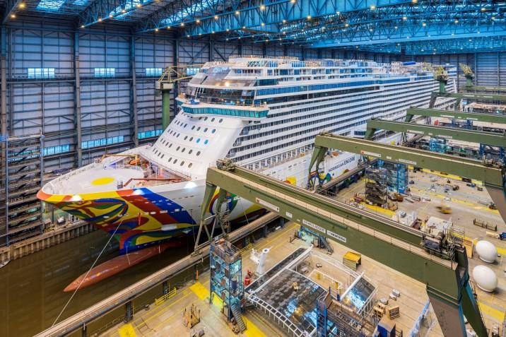 Norwegian Encore Floats Out — NCL: Cruise Line in Development